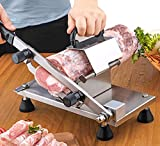 BAOSHISHAN Manual Meat Slicer Frozen Meat Slicer Slicing Machine Stainless Steel Meat Cleaver for Beef Mutton Roll Bacon Vegetable Home Use Hotpot Shabu Shabu