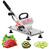 aingycy Frozen Meat Slicer Hand Slicing Machine Stainless Steel Frozen Beef Mutton Bacon Meat Cutter Vegetable Fruit Meat Cleaver for Home Kitchen and Commercial Use