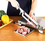 CGOLDENWALL Manual Meat Bone Cutter Household Meat Cleaver Knife, Food Grade Stainless Steel, with Food Storage Shovel, for Cutting Whole Chicken Fish Jerky Ribs Herbs, Slicing Fruits Vegetables
